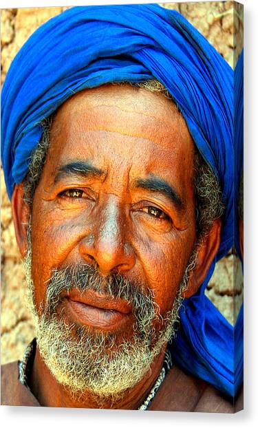 Portrait Of A Berber Man  Canvas Print by PIXELS  XPOSED Ralph A Ledergerber Photography