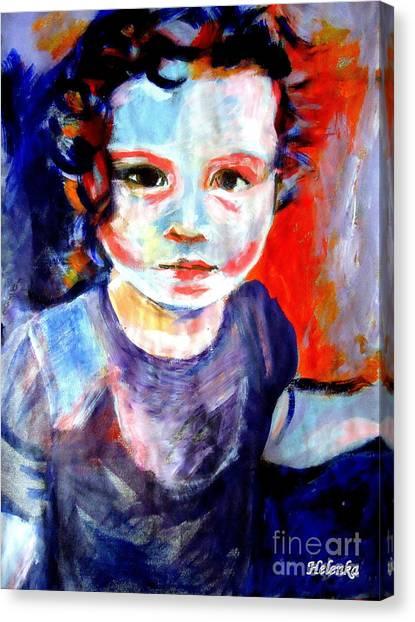 Portrait Of A Little Girl Canvas Print