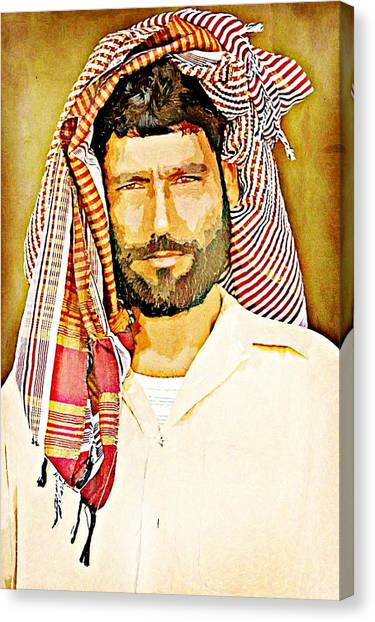 Portrait Of A Man Canvas Print by Peter Waters