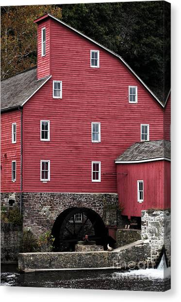 Portrait Of A Red Mill Canvas Print by John Rizzuto