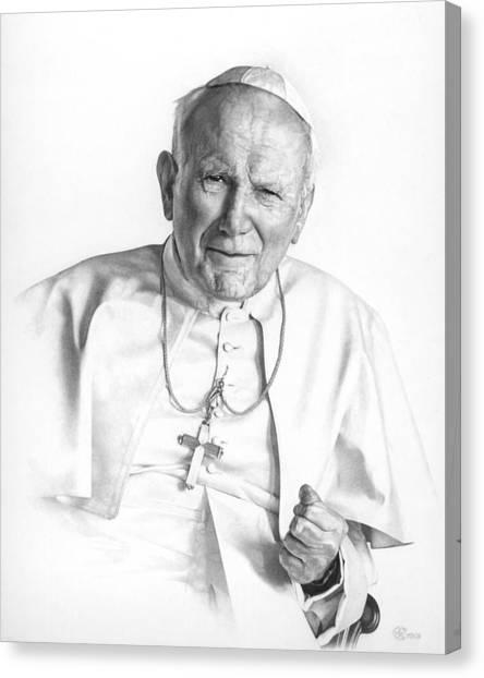 Portrait Of A Saint Canvas Print
