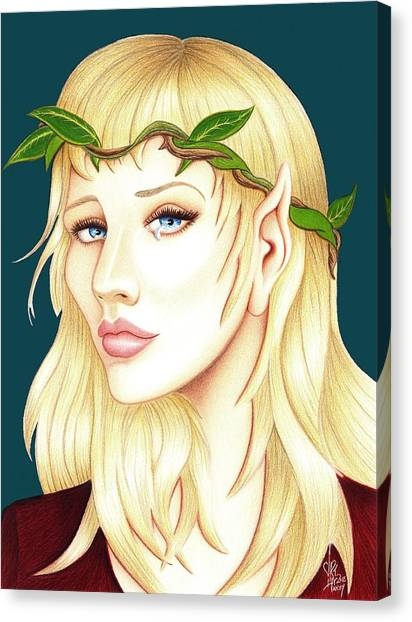 Portrait Of A She Elf Canvas Print