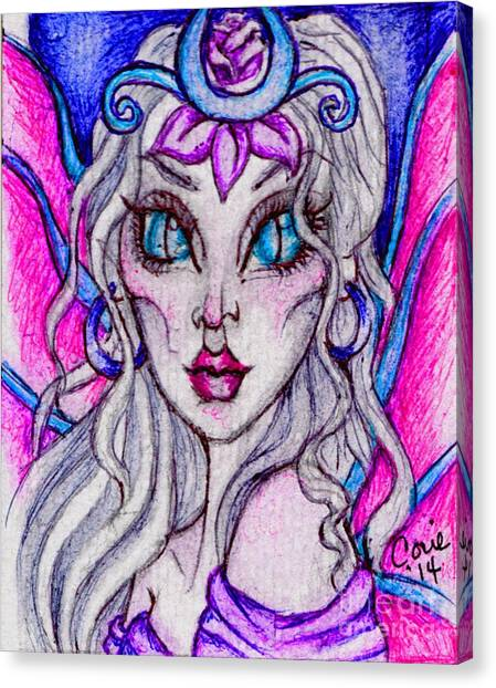 Portrait Of A Sidhe Queen- Altheia Canvas Print by Coriander  Shea