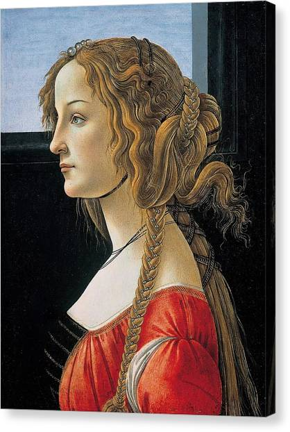 Botticelli Canvas Print - Portrait Of A Young Woman by Sandro Botticelli
