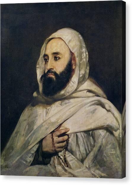 Emir Canvas Print - Portrait Of Abd El-kader by Jean Baptiste Ange Tissier