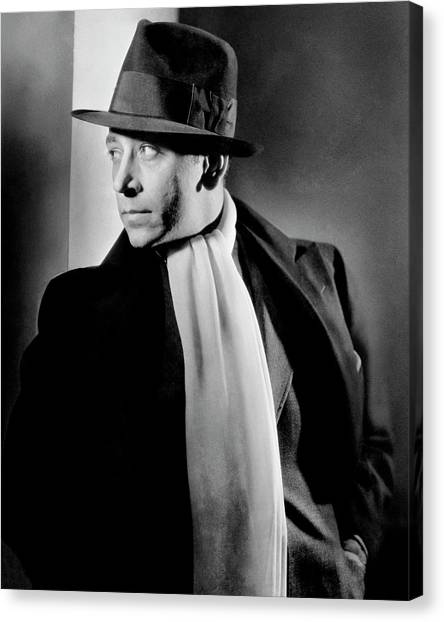 Portrait Of Actor George Raft Canvas Print by Lusha Nelson