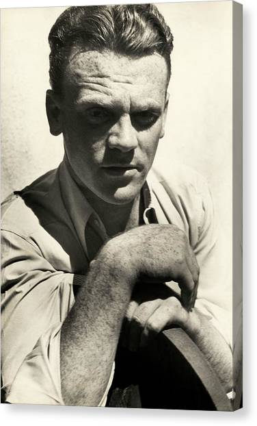 Portrait Of Actor James Cagney Canvas Print by Imogen Cunningham