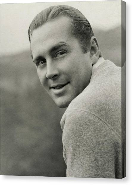 Portrait Of Actor James Dunn Canvas Print by Imogen Cunningham
