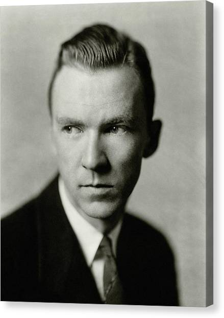 Portrait Of Actor Lee Tracy Canvas Print by Florence Vandamm
