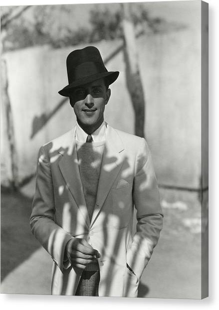 Portrait Of Actor Phillips Holmes Canvas Print by George Hoyningen-Huene