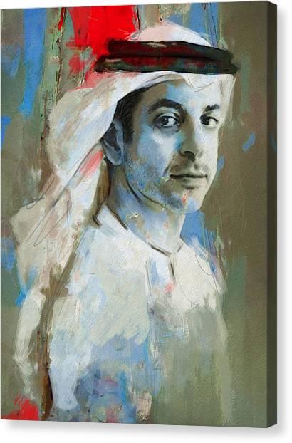 Emir Canvas Print - Portrait Of Ahmed Bin Zayed Al Nahyan by Maryam Mughal