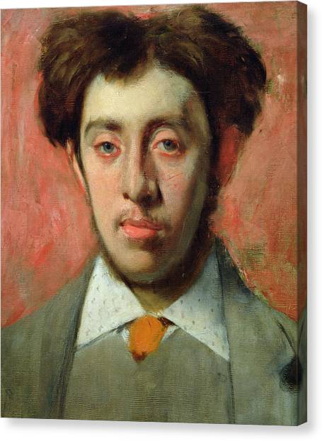 Edgar Degas Canvas Print - Portrait Of Albert Melida by Edgar Degas