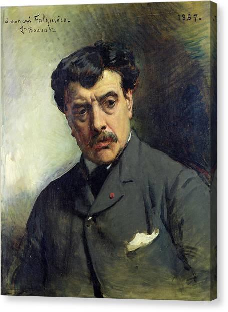 Sculptors Canvas Print - Portrait Of Alexander Falguiere 1831-1900 1887 Oil On Canvas by Leon Joseph Florentin Bonnat