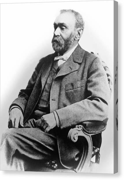 Nobel Canvas Print - Portrait Of Alfred Nobel by Underwood Archives