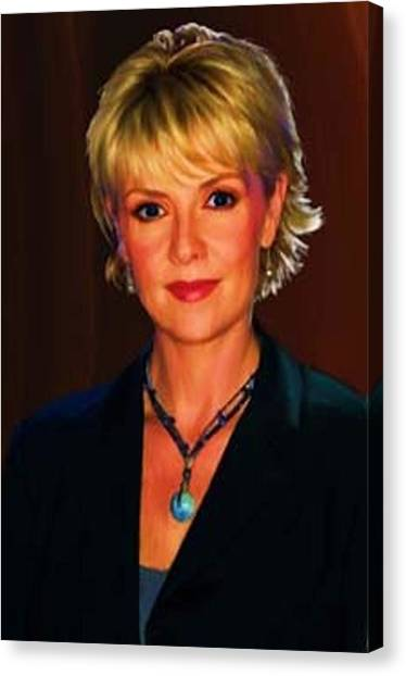 Portrait Of Amanda Tapping Canvas Print