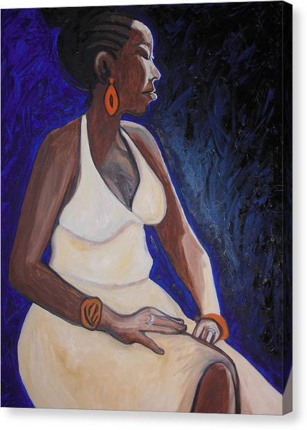 Portrait Of An Ethiopian Woman Canvas Print