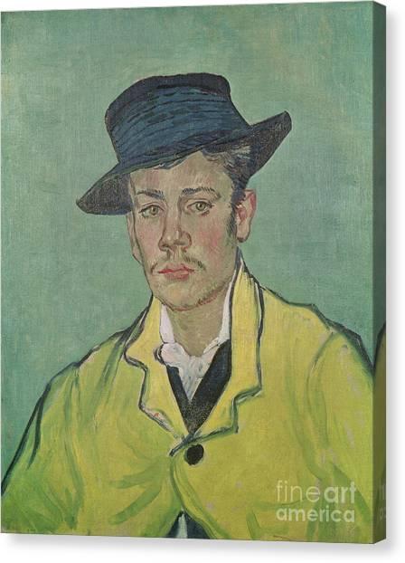 Post-impressionism Canvas Print - Portrait Of Armand Roulin by Vincent Van Gogh