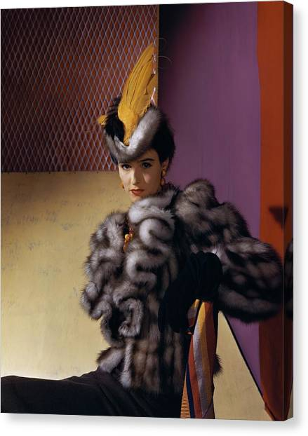 Portrait Of Babe Paley Canvas Print by Horst P. Horst