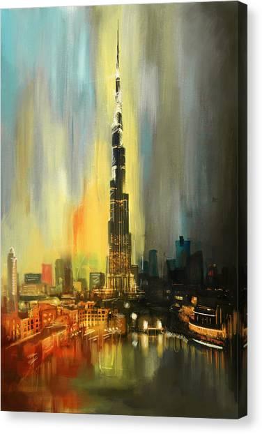 Portrait Of Burj Khalifa Canvas Print