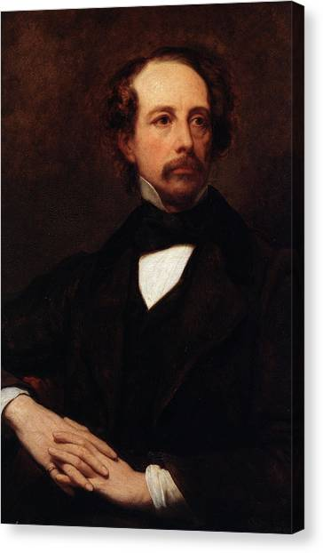 Compose Canvas Print - Portrait Of Charles Dickens by Ary Scheffer