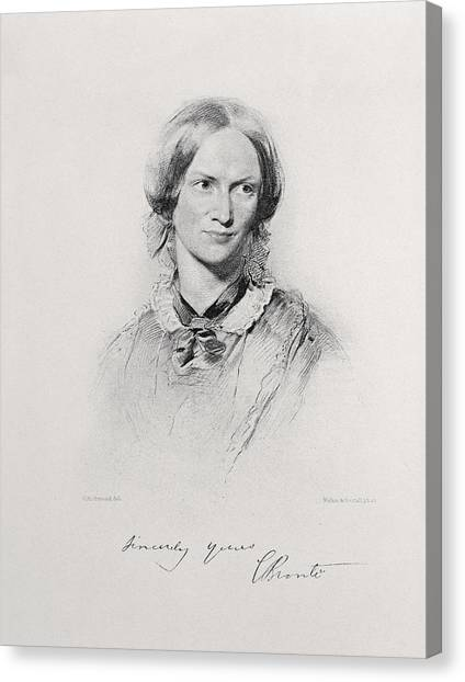 Signature Canvas Print - Portrait Of Charlotte Bronte, Engraved by George Richmond