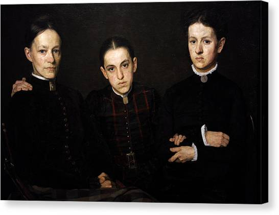 Rijksmuseum Canvas Print - Portrait Of Cornelia, Clara And Johanna Veth, 1885, By Jan Veth 1864-1925 by Bridgeman Images