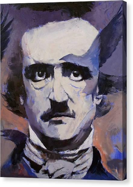 Poe Canvas Print - Edgar Allan Poe by Michael Creese