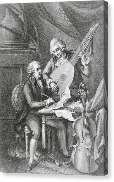 Cellos Canvas Print - Portrait Of Franz Joseph Haydn by John Francis Rigaud