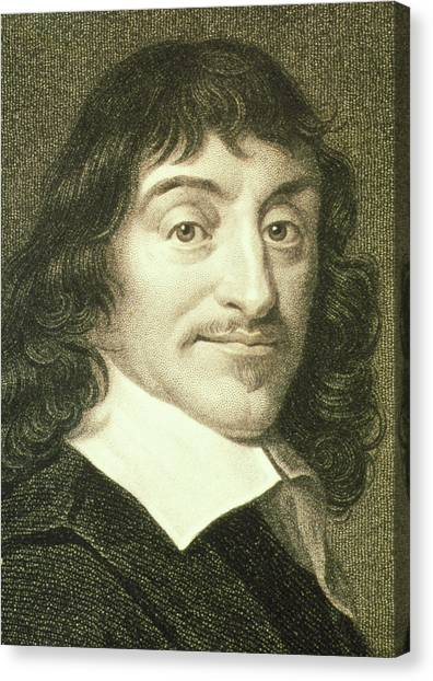 Philosopher Canvas Print - Portrait Of French Mathematician Rene Descartes by George Bernard/science Photo Library