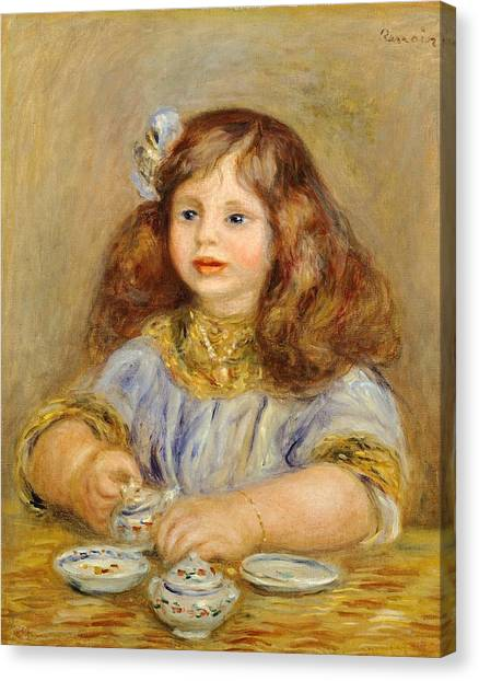 Sideways Canvas Print - Portrait Of Genevieve Bernheim De Villiers by Pierre-Auguste Renoir