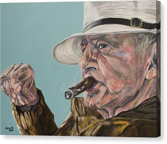 Portrait Of Geo Canvas Print