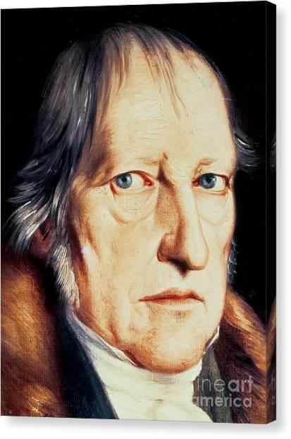 Academic Art Canvas Print - Portrait Of Georg Wilhelm Friedrich Hegel by Jacob Schlesinger