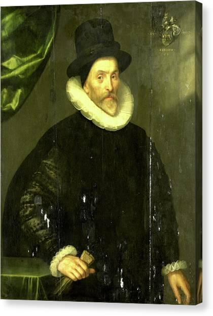 The Prado Canvas Print - Portrait Of Gualtero Del Prado, Gortzius Geldorp by Litz Collection