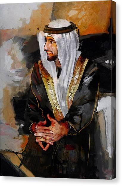 Emir Canvas Print - Portrait Of Hamdan Bin Mohammad Bin Rashid Al Maktoum 2 by Maryam Mughal
