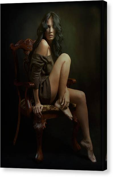 Chair Canvas Print - Portrait Of Helen by Zachar Rise