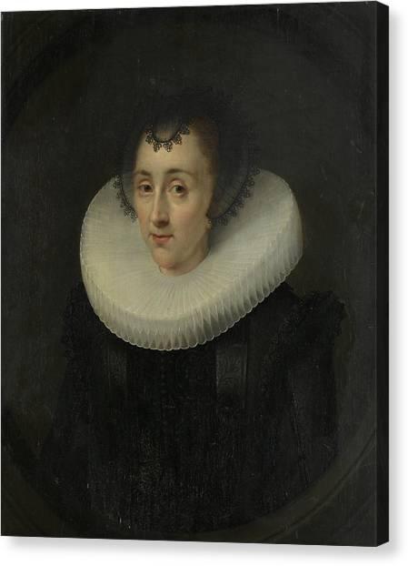 The Prado Canvas Print - Portrait Of Hortensia Del Prado, Attributed To Salomon by Litz Collection