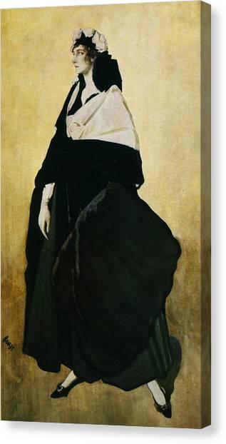 Jewish Artist Canvas Print - Portrait Of Ida Lvovna Rubinstein by Leon Bakst