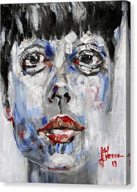 Portrait Of Illustra Canvas Print