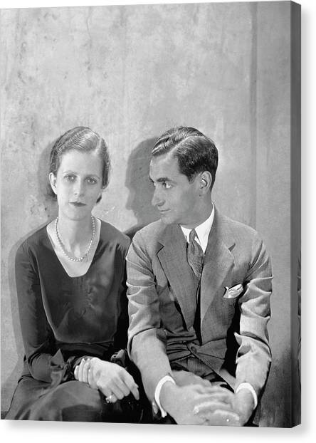 Portrait Of Irving Berlin And His Wife Canvas Print by Cecil Beaton
