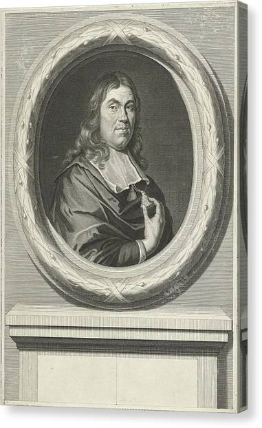Dye Canvas Print - Portrait Of Jan De Wys, Dealer In Dyes In Amsterdam by Johannes Willemsz. Munnickhuysen