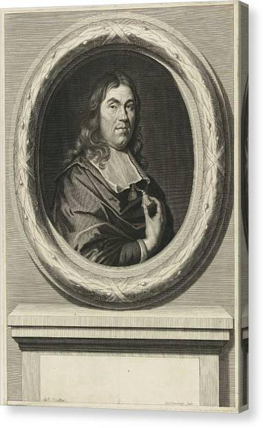 Dye Canvas Print - Portrait Of Jan De Wys by Johannes Willemsz. Munnickhuysen