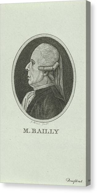 Portrait Of Jean Sylvain Bailly, 1736 - 1793, A French Canvas Print by Quint Lox
