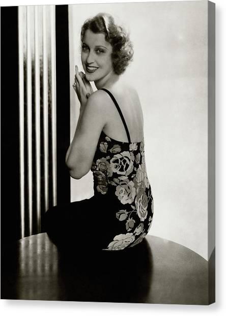 Actresses Canvas Print - Portrait Of Jeanette Macdonald by Edward Steichen e0260db56