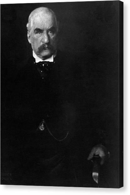Portrait Of John Pierpont Morgan Canvas Print by Edward Steichen