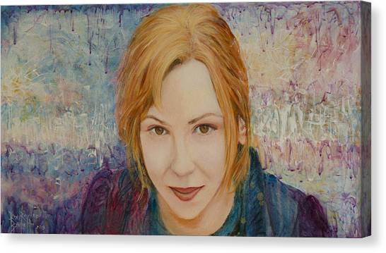 Portrait Of Kat Magda Canvas Print