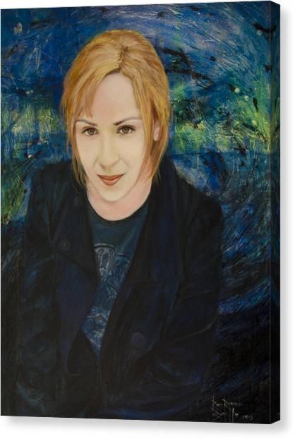 Portrait Of Katarzyna Magda Canvas Print