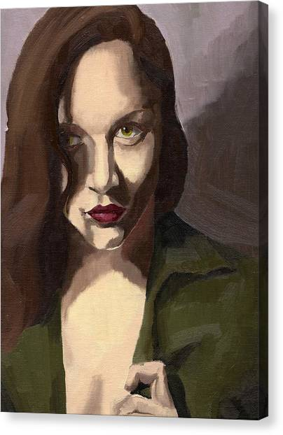 Portrait Of Katelind Canvas Print