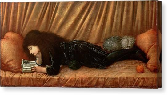 Pre-raphaelite Art Canvas Print - Portrait Of Katie Lewis by Sir Edward Coley Burne-Jones