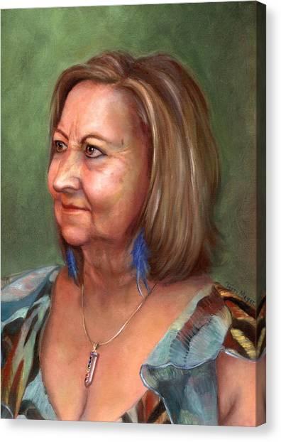 Portrait Of Lana Canvas Print by Terri  Meyer
