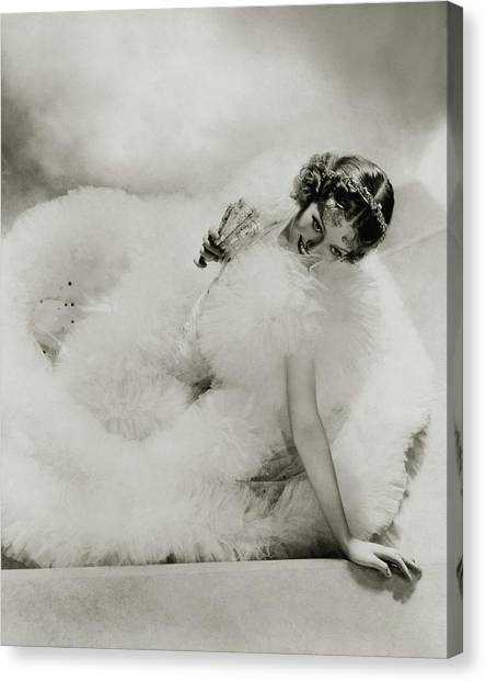 Portrait Of Loretta Young Canvas Print